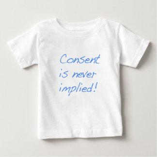 El consentimiento es nunca implica remeras