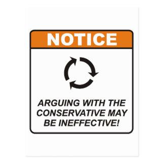 El conservador/discute postales