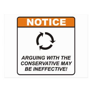 El conservador/discute tarjetas postales