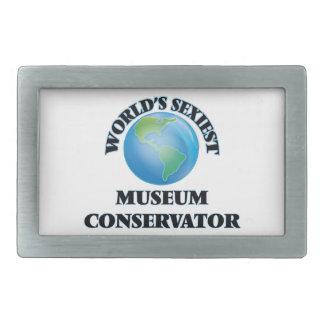 El conservador más atractivo del museo del mundo hebilla de cinturon rectangular