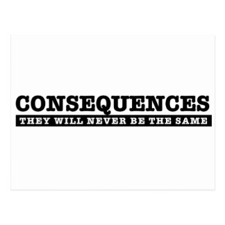 El Consesuences nunca será igual Postales