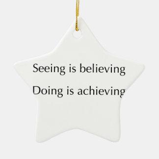El considerar está creyendo que haciendo está adorno navideño de cerámica en forma de estrella