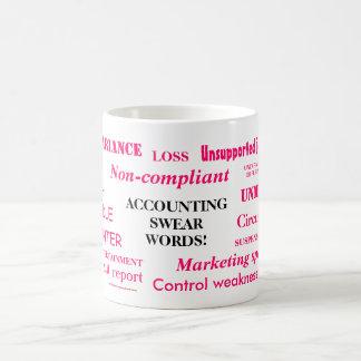 ¡El considerar jura palabras! ¡Chiste femenino del Taza De Café