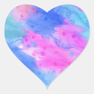 El CONSIDERAR PROTAGONIZA 1 - cielo estrellado Pegatina En Forma De Corazón