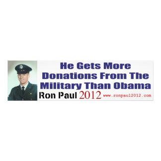 Él consigue más donaciones de militares que Obama Fotografías