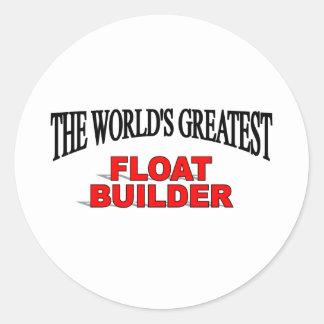 El constructor más grande del flotador del mundo pegatina redonda