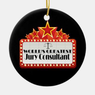 El consultor del jurado más grande del mundo adorno navideño redondo de cerámica