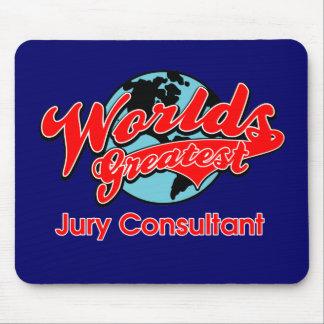 El consultor del jurado más grande del mundo tapetes de raton
