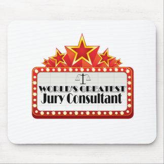 El consultor del jurado más grande del mundo tapete de ratón