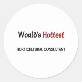 El consultor hortícola más caliente de los mundos pegatina redonda
