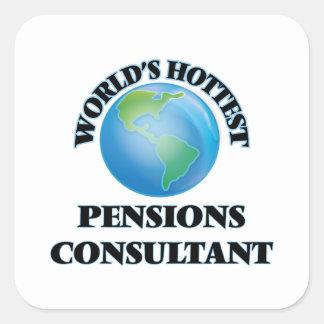 El consultor más caliente de las pensiones del colcomanias cuadradas personalizadas