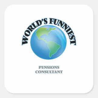 El consultor más divertido de las pensiones del calcomania cuadradas personalizada