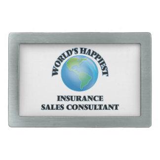 El consultor más feliz de las ventas del seguro hebilla cinturon rectangular