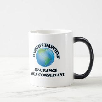 El consultor más feliz de las ventas del seguro taza mágica