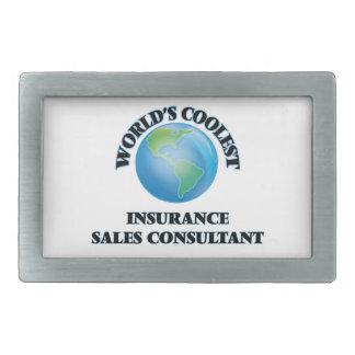 El consultor más fresco de las ventas del seguro hebilla cinturón rectangular