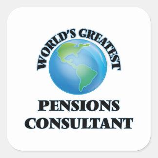 El consultor más grande de las pensiones del mundo calcomanía cuadradase