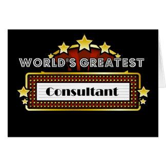 El consultor más grande del mundo tarjeta de felicitación