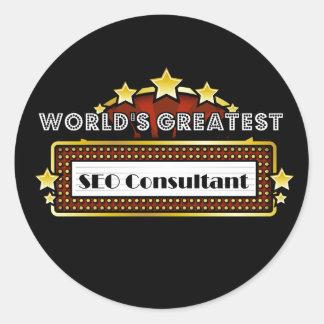 El consultor más grande del SEO del mundo Pegatinas Redondas