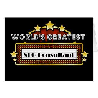 El consultor más grande del SEO del mundo Tarjeta De Felicitación