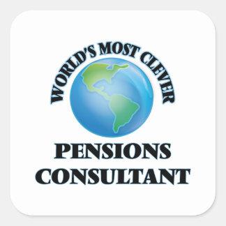 El consultor más listo de las pensiones del mundo colcomanias cuadradas personalizadas