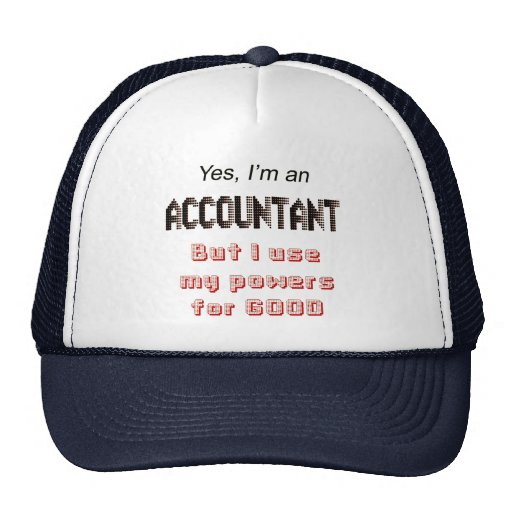 El contable acciona decir divertido del humor de l gorros bordados