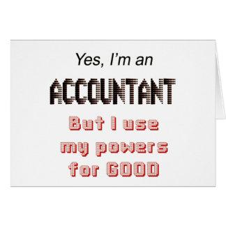 El contable acciona decir divertido del humor de l tarjeta de felicitación