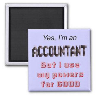El contable acciona la oficina divertida que dice  imán cuadrado