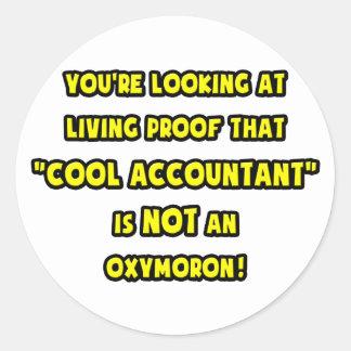 El contable fresco no es un Oxymoron Pegatina Redonda