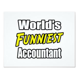 """El contable más divertido del mundo invitación 4.25"""" x 5.5"""""""