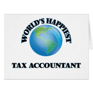 El contable más feliz del impuesto del mundo tarjeta de felicitación grande