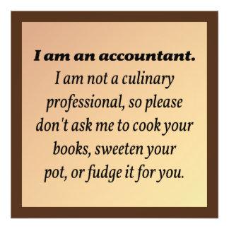El contable no cocinará los libros impresion fotografica