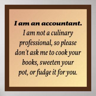 El contable no cocinará los libros póster