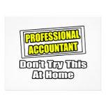 El contable profesional… no intenta esto en casa invitación personalizada