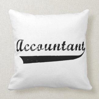 El contable se divierte el texto del estilo almohada