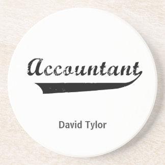 El contable se divierte el texto del estilo posavasos diseño