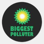 El contaminador más grande de BP Pegatinas Redondas
