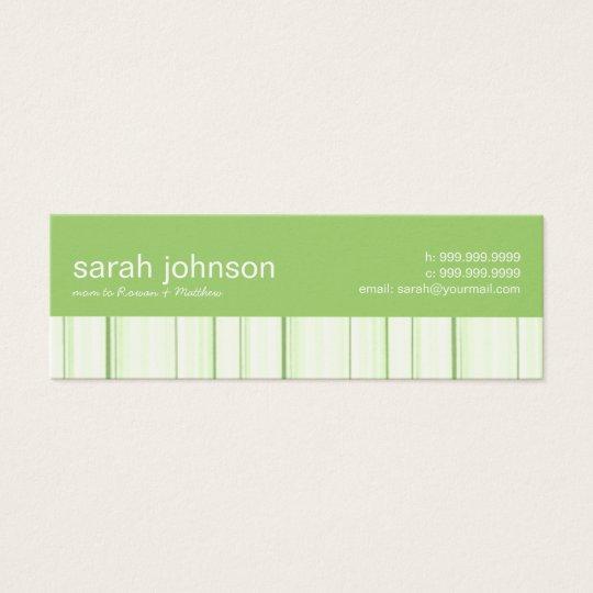 El contemporáneo raya la tarjeta de visita de la
