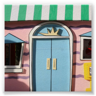 El contexto azul de la foto de la puerta poster