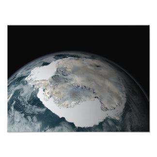 El continente congelado de la Antártida Fotografía