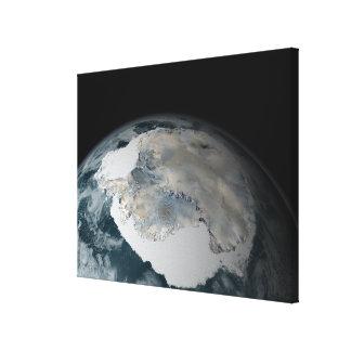 El continente congelado de la Antártida Impresión De Lienzo