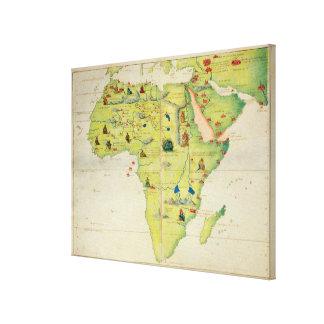El continente de África Impresión En Lienzo Estirada