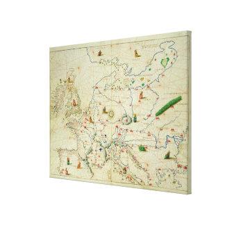 El continente de Europa Lienzo Envuelto Para Galerias