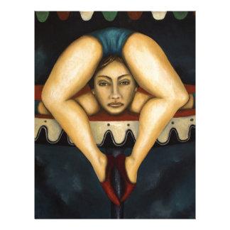 El contorsionista membretes personalizados