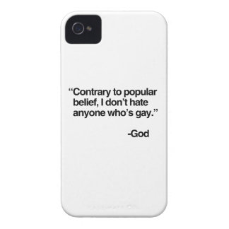 El contrario a la creencia popular, dios no odia e Case-Mate iPhone 4 protectores