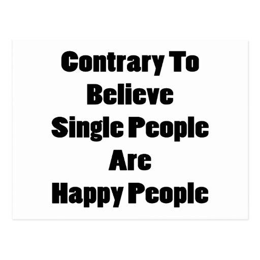 El contrario para creer a sola gente es gente postal