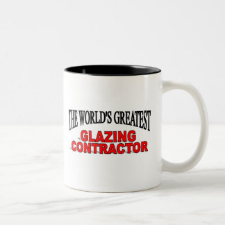 El contratista satinado más grande del mundo tazas de café