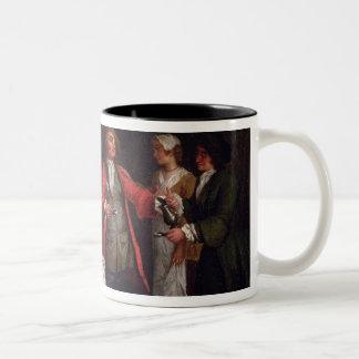 El contrato de boda tazas de café