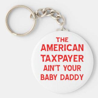 El contribuyente americano no es su papá del bebé llavero redondo tipo pin