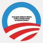 El contribuyente que vota por Obama es como un pol Pegatina