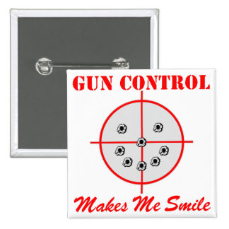 El control de armas hace que sonríe pin